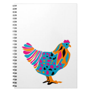 Funky Bright Chicken Notebook