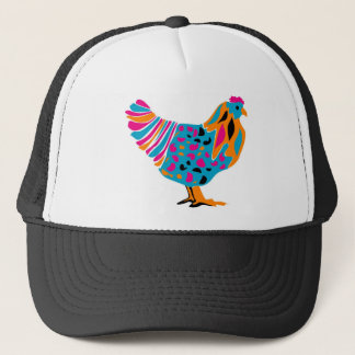 Funky Bright Chicken Trucker Hat
