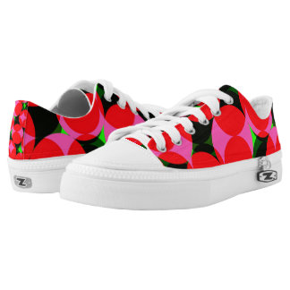 Funky Bright Colorful Geometric Design Low Tops