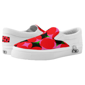 Funky Bright Colorful Geometric Design Slip On Shoes