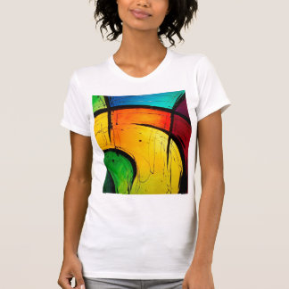 Funky Bright Colors Abstract Art T-shirts