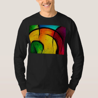 Funky Bright Colors Abstract Art Tee Shirt