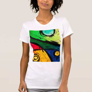 Funky Bright Colors Abstract Art T Shirts