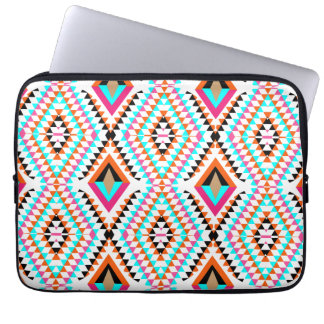 Funky Bright Fresh Colorful Geometric Graphic Laptop Sleeve