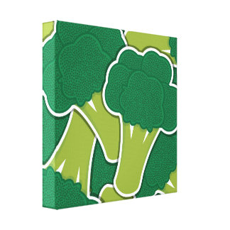 Funky broccoli canvas print