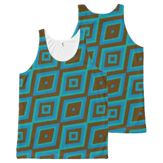 Funky brown and blue vest