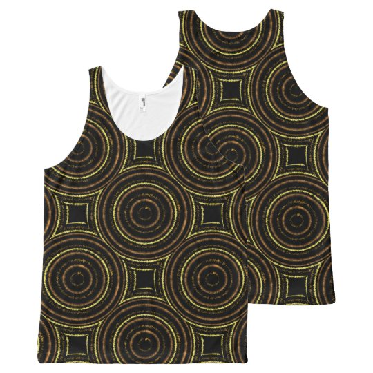 Funky brown n gold vest