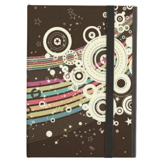 Funky Brown Retro Circles Vector iPad Air Case