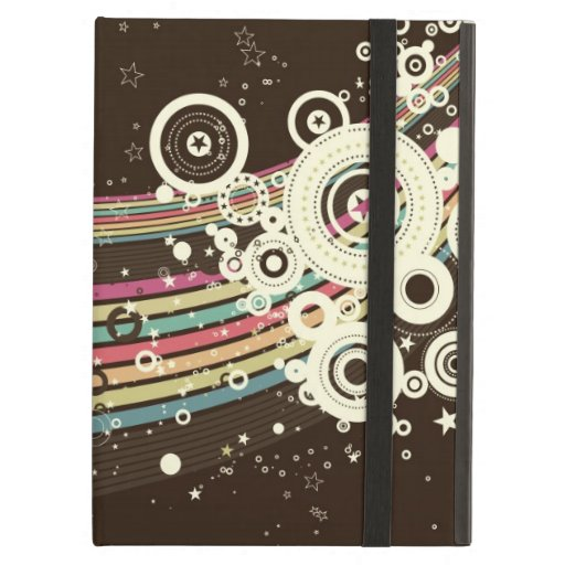Funky Brown Retro Circles Vector iPad Case