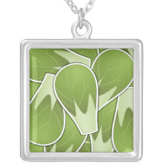 Funky brussel sprout silver plated necklace