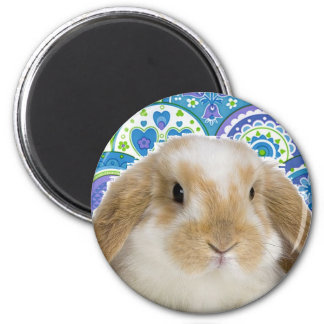 Funky Bunny 6 Cm Round Magnet