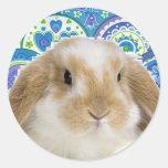 Funky Bunny Classic Round Sticker