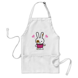 Funky Bunny Valentine Tees and Gifts Adult Apron