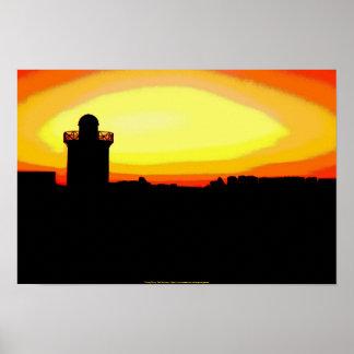 Funky Burry Port Sunrise Poster