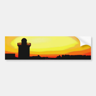 Funky Burryport sunrise Burry port Bumper Sticker