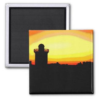 Funky Burryport sunrise Square Magnet