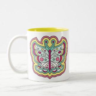 Funky butterflies mug
