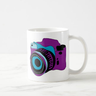 Funky camera graphic illustration coffee mug
