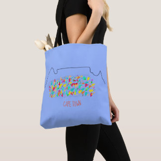 Funky Cape Town Table Mountain Colorful Tote Bag