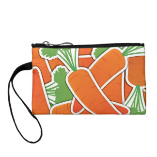 Funky carrot coin purse
