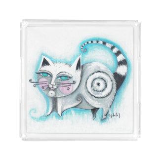 Funky Cat Acrylic Tray