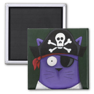 Funky Cats... Cap'n Cat Sparrow Magnet
