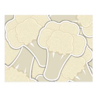 Funky cauliflower postcard