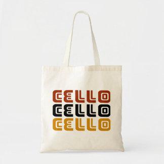Funky Cello Trio Gift Budget Tote Bag