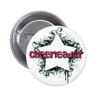 Funky Cheerleading Star 6 Cm Round Badge