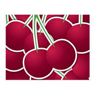 Funky cherry postcard