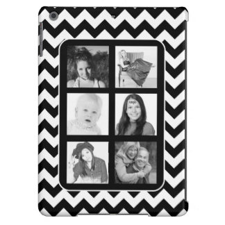 Funky Chevron BW Instagram Photos Collage Case For iPad Air