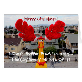 Funky Chicken Christmas Greeting Card! Greeting Card