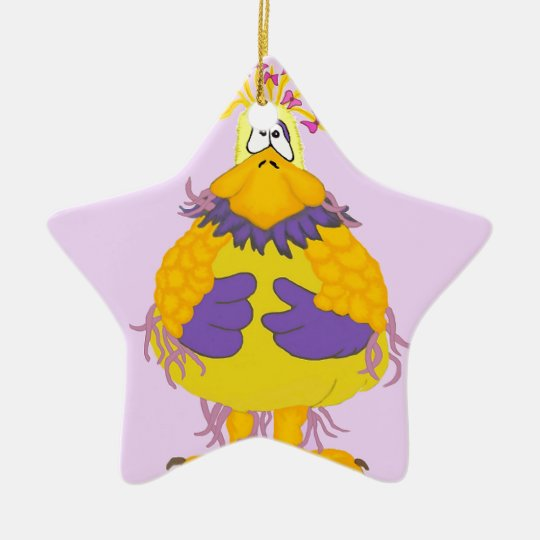 FUNKY CHICKEN CHRISTMAS ORNAMENT
