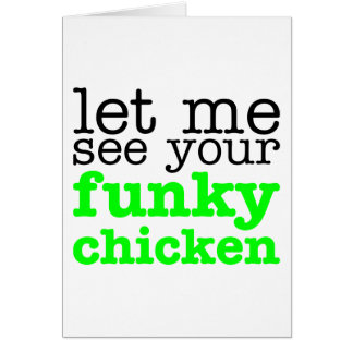 Funky Chicken Green Greeting Cards