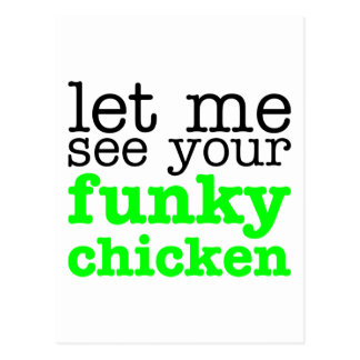 Funky Chicken Green Postcards