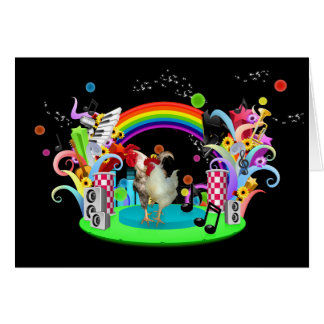 Funky Chicken Party Greeting Card