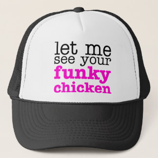 Funky Chicken Pink Trucker Hat