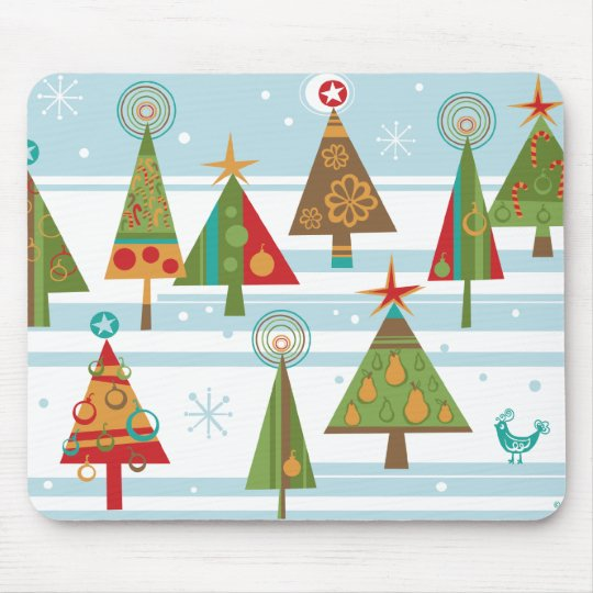 Funky Christmas Tree Mouse Pad