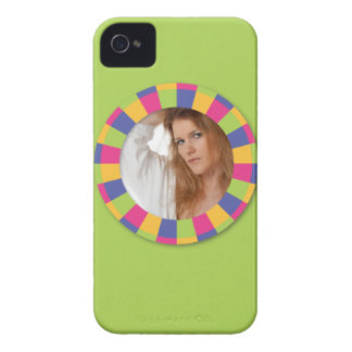 Funky Circle frame - Disco! on green Case-Mate iPhone 4 Case