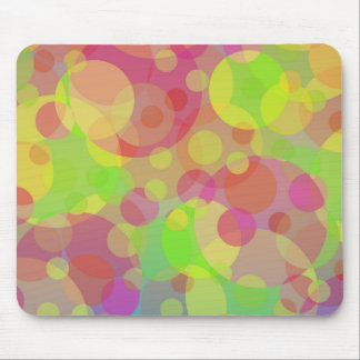 Funky Circles Abstract Modern Art Mouse Pads