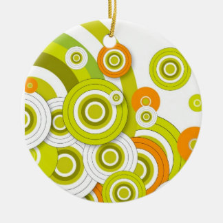 Funky circles christmas tree ornaments