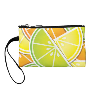 Funky citrus wedges coin purse