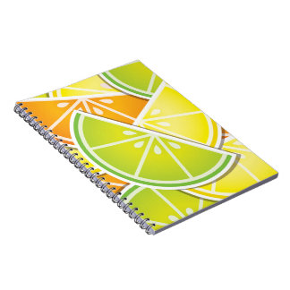 Funky citrus wedges notebook