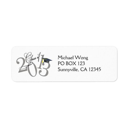 Funky Class of 2013 Address labels