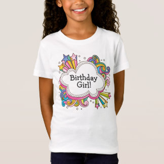 Funky Cloud Birthday Girl T-Shirt