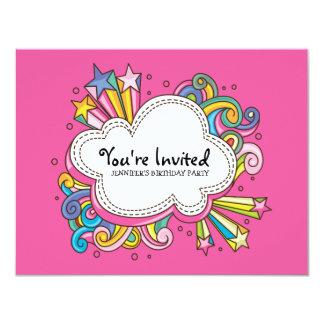 Funky Cloud Birthday Invitation