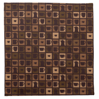 Funky coffee mosaic napkin