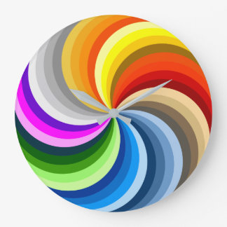 FUNKY COLOR CHART TWIRL LARGE CLOCK