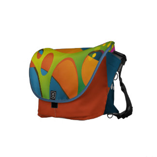 Funky Colorful Abstract Design Courier Bag