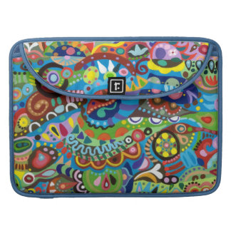 Funky Colorful Abstract Macbook Pro Sleeve